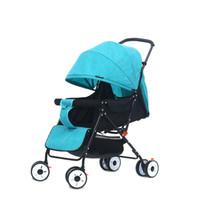 leichte kinderwagen gefaltet großhandel-Tragbare leichte Reise Kinderwagen Multi-Winkel-Grad Kinderwagen Falten Baby Cariage Infant Trolley Wagon