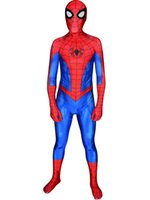 ingrosso lycra spandex bodysuit per gli uomini-PS4 insonne Spider-Man Cosplay Costume Spider Game Lycra Spandex 3D Stampa Halloween Spiderman Costume Cosplay Body