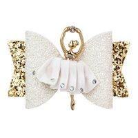 ballerine arcs achat en gros de-Thumblina Ballerina Glitter Bow Pince à Cheveux Scintillants pour Femmes Filles Épingle À Cheveux Enfants Enfants Barrettes Cheveux Accessoires