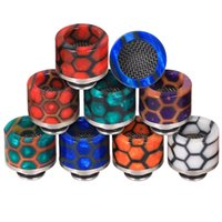 Epoxy Resin SS Drip Tip 810 510 Thread Snake Skin Wave Wide Bore Mouthpiece Anti-Oil Spit Spill Design Vape Drip Tips Tank Atomizer
