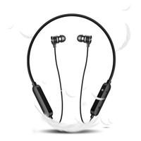 h8 bluetooth оптовых-2019 оригинальный H8 наушники Bluetooth наушники беспроводные магнитные наушники с шейным ободом громкой связи с микрофоном для спорта свободный корабль