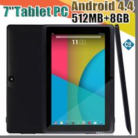 Wholesale cheapest dual core tablets online - 100X Dual Camera Q88 A33 Quad Core Tablet PC Inch MB GB Android kitkat Wifi Allwinner Colorful DHL MID cheapest