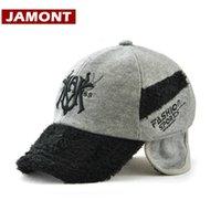 chapéus das crianças do bombardeiro venda por atacado-[Jamont] Crianças de Inverno Hat Snapback Aqueça engrossar boné de beisebol crianças para Boy Girl à prova de vento Bomber Chapéus
