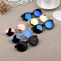 Wholesale korean eyewear frame for sale - For Boys Girls Sunglasses Children Candy Frosted Korean Beach Supplies UV400 Protective Eyewear PC Kids Sunshades Glasses Wholesales Y52