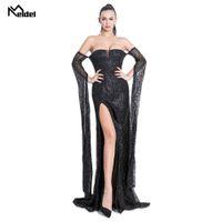 Wholesale new brilliant dress resale online - Evening Dress Long Brilliant New Women s Elegant Evening Dress With V neck With Sequins Mermaid Maxi