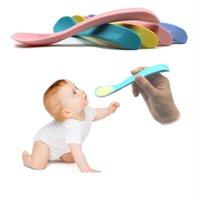 ingrosso bpa bambini-Cucchiaini per bambini facili da masticare BPA in silicone morbido in silicone per prima infanzia