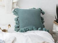 cas de gland achat en gros de-Gland Tricoté Housse de Coussin Décoratif De Luxe Taies D'oreiller pour Sofa Décoration De Mariage Taie D'oreiller Chaise Taie D'oreiller