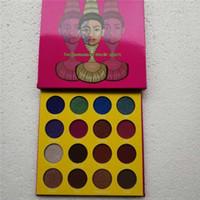16 тени для век оптовых-Cleopatra 16 Color Eyeshadow Makeup Plate Серия Продукты Водонепроницаемые Нецветные Прочная красивая палитра теней для век Maquillaje