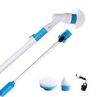 turbo-gebühren großhandel-Elektro-Turbo-Peeling Langstiel-Reinigungsbürste Multifunktions-Drahtlosladebürste Haushaltsreinigungswerkzeuge