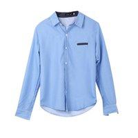 camisas de hombre de lujo formal al por mayor-2019 Hot New Fashion Men Luxury Slim Fit Camisa Masculina Camisa Masculina Casual Formal de negocios camisas de manga larga más el tamaño 2XL