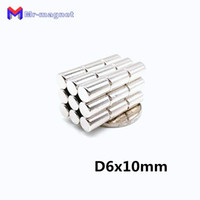 Wholesale neodymium disc magnets 6mm resale online - 2019 imanes Neodymium Disc Magnets x10 mm N50 Super Strong Powerful Rare Earth mm x mm Small Round Magnet mmx10m