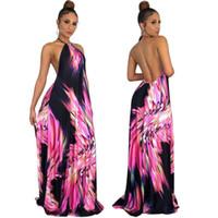 donne halter maxidress designer pavimento-lunghezza abito di un pezzo gonna  alta qualità elegante clubwear di lusso klw0374 dd5010c8be2
