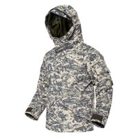 Wholesale army full combat uniform for sale - Freeshipping Tactical windbreaker G8 full pressure rubber jacket tactical American camouflage windbreaker combat uniform