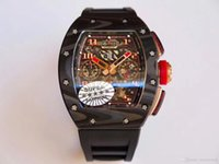 лучшие автоматические спортивные часы оптовых-KvFactory v2 из углеродного волокна лучшее качество rm-011 eta.7750 хронограф автоматическое движение 45мм мужские часы силиконовый ремешок спортивные мужские часы watc