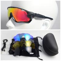 binicilik bisiklet gözlükleri toptan satış-5 Lens Bisiklet Spor Polarize Güneş Gözlüğü Bisiklet Bisiklet Ultralight UV400 Gözlük Sürme Sürüş Eğlence