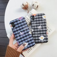 Wholesale note style cases for sale - Group buy High Quality Retro Literary Style IMD Cases For Iphone X XR XS MAX Checker Pattern Phone Cases For iPhone Plus