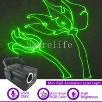 laser projetor animação venda por atacado-Sharelife 500 mw RGB Animação Laser Mini DMX 512 Luz Do Projetor para Show de DJ Casa de Casamento Gig Party PRO Iluminação de Palco F2750