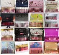 labio al por mayor-Maquillaje caliente de Alta calidad 12 Color / set Lipgloss Mate Impermeable Edición de Brillo de Labios DHL envío gratis