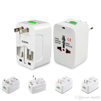 Wholesale international cell phone resale online - Universal International Adaptor All in One Travel AC Power Wall Charger For US EU UK AU Converter Plug with Retail Package for cell phone