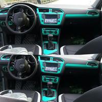 Wholesale volkswagen tiguan for sale - Group buy For Volkswagen Tiguan L Interior Central Control Panel Door Handle Carbon Fiber Stickers Decals Car styling Accessorie