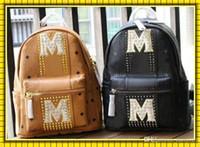 Wholesale classic style men backpack resale online - Fashion Backpack Handbag Man Women Shoulder Bags Students Satchels Bag Classic Leather Backpacks Students Schoolbag School Bags