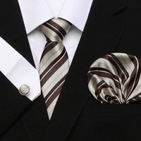 военно-морской галстук золотой галстук оптовых-Многоцветный коричневый золотой желтый темно-синий розовый белый бежевый цветочные мужские галстуки галстук 100% шелковый галстук набор платок Бесплатная доставка оптом