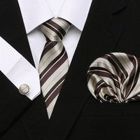 ingrosso legami floreali blu rosa-Multicolor Marrone Oro Giallo Blu Navy Rosa Bianco Beige Floreale Mens Cravatte Cravatta 100% Seta Cravatta Set Hanky Spedizione Gratuita All'ingrosso