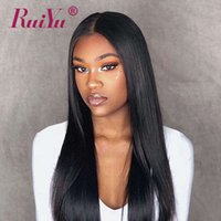 Wholesale 22 u part wig for sale - Group buy Straight Brazilian Human Hair U Part Wigs For Black Women Middle Part Peruvian Remy Wigs RUIYU Full End Lace Wigs With Baby Hair