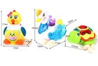 brinquedos eletrônicos presentes venda por atacado-Crianças Crianças Brinquedos Eletrônicos Animais de Estimação Automaticamente Eletrônico Leigos Ovos Brinquedos para Meninas Meninos Tartarugas Cisne e Frango Caçoa o Presente