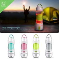 botellas brillantes al por mayor-Luz LED portátil Botellas de agua inteligentes Pistas Toma de agua Resplandor para recordar Beber Lámpara de noche Deporte de emergencia Agua Reemplazo Copas