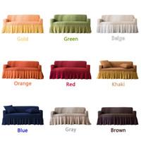 мебель диваны диваны оптовых-NEW Sofa Slipcover Couch Cover Throw Pillow Cushion Case High Elasticity Universal Furniture Protector Case with Elegant Skirt