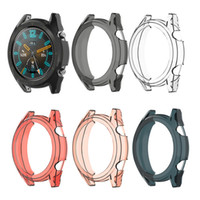 Wholesale smart protection case for sale - Group buy Soft Ultra Slim TPU Protection Silicone Full Case Cover For Huawei Watch GT Active mm Elegant Replacement Strap Smart Watch Accessories