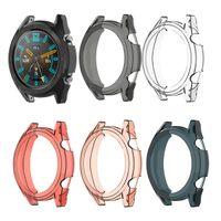 ultra slim smart watch großhandel-Weiche ultra-dünne TPU-Schutz-Silikon-volle Fall-Abdeckung für Huawei-Uhr GT aktives 46mm elegantes Ersatz-Bügel-intelligente Uhr-Zusätze