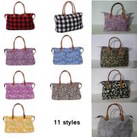 Wholesale women weekender bag for sale - Group buy 17inch plaid Floral Leopard Duffel Bag Big Travel camouflage camo Tote animal print handbag Double Handles Sarah Weekenders Bag AAA2205