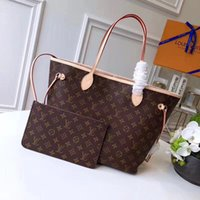 Wholesale clutches china resale online - Neverfull Louis Vitton Classic Tote Bag with Clutch Luxury Shopping Handbags Travel Purses Women Fashion Shoulder Messenger Bags