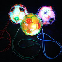 Wholesale children jump rope resale online - Best selling electric dancing football with rope glow music jumping ball children flash toy bouncy ball