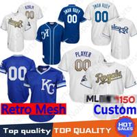 11883088e Kansas City Mens Custom Royals Salvador Perez Bo Jackson Alex Gordon Whit  Merrifield Eric Hosmer Danny Duffy 2018 KC Baseball Jersey