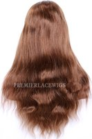 dantel kapağı insan dantel toptan satış-Tam Dantel İnsan Saç Peruk Brezilyalı Remy Kıllar 30 # Renk Büyük Kap Boyutu Doğal Düz 180% Yoğunluk Doğal Saç Çizgisi Ile Bebek saç