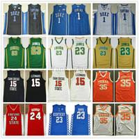 camisa de basquete durant venda por atacado-NCAA Universidade 7 Homem Kevin Durant Kyrie Irving Jersey 11 Kawhi 2 Leonard Paul 13 George Anthony 3 Davis LeBron 23 James Basquete Jerseys