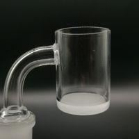 Wholesale 18mm quartz bucket resale online - Top quality Opaque Bottom Gavel Flat Top Quartz Banger dab Nail mm mm mm Male Female Degree Honey Bucket for bong