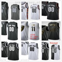 Wholesale Custom Printed BrooklynNetsBasketball Jerseys Top Quality New White Blue Gray Black Gold Jersey Message any number and name on the order