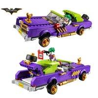 brinquedos de construção batman venda por atacado-07046 433 Batman filme palhaço infame Lowrider Harley Quinn blocos de brinquedo 70906 infantil de presente de Natal