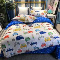 katzen quilts großhandel-Cartoonentwurf Baumwolle 13376 aktiver Bettbezug Bettwäsche-Set Bettbezug Twin-Size-Queen-Size-dragen Katze rubbit Krokodilshai 4 Seanson Einsatz