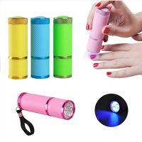secador rápido de uñas al por mayor-Mini Secador de Uñas LED Lámpara UV Lámpara Profesional Lámpara de Led Polaco de Gel Secador de Uñas Linterna LED Secador de Uñas de Curado Rápido Nail Art Tools RRA892