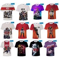 videojuegos 3d al por mayor-Más el tamaño Apex Legends Hombres Camiseta de Verano Camisetas 3D Juegos de Video de Impresión de Manga Corta O Cuello Camisetas Chándal de Fitness Tops XXS-4XL A22602