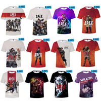 Wholesale video games plus for sale - Group buy plus size Apex Legends Men T shirt Summer T Shirts D Print Video Games Short Sleeve O Neck Tees Tracksuit Fitness Tops XXS XL A22602