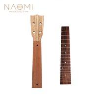 ukulele 23 venda por atacado-NAOMI 23 Polegada Ukulele Pescoço + Fingerboard Mogno Ukulele Neck Rosewood Fingerboard Concerto Havaí Guitarra Para Ukulele Luthier DIY