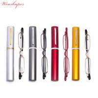 Wholesale slimming glasses for sale - Group buy WEARKAPER Metal Frame Rimmed Slim Women Men Reading Glasses Glass Lens Presbyopic Eyeglasses Mini Ultralight
