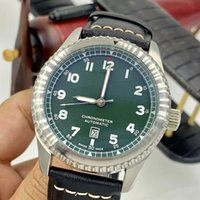 Wholesale glow series resale online - Retro Style AVIATOR Series A133161A Mens Watches Automatic Mechanical Readable Green Dial MM Watch Glow Wristwatches