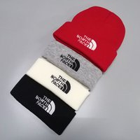Wholesale crochet knitted hats resale online - Brand The North Men Women Beanie Knitted Hat Winter Warm Unisex Outdoor Ski Hats Trendy Face Cycling Gorro Bonnet Skull Caps C101504